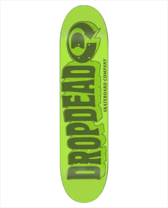 "Shape Dropdead - Heat Transfer Got Acid Green 8.2""  - No Comply Skate Shop"