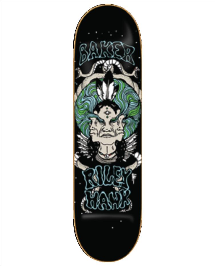 "Shape Baker - Riley Hawk Visions 8.0""  - No Comply Skate Shop"