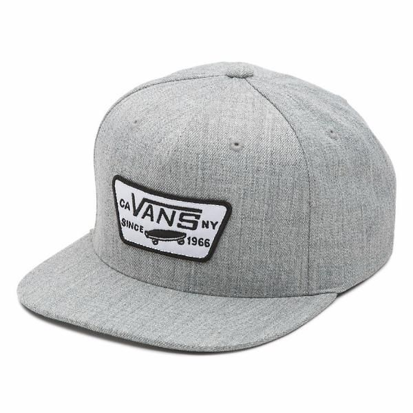 Boné Vans - Full Patch Snapback Heather Grey  - No Comply Skate Shop