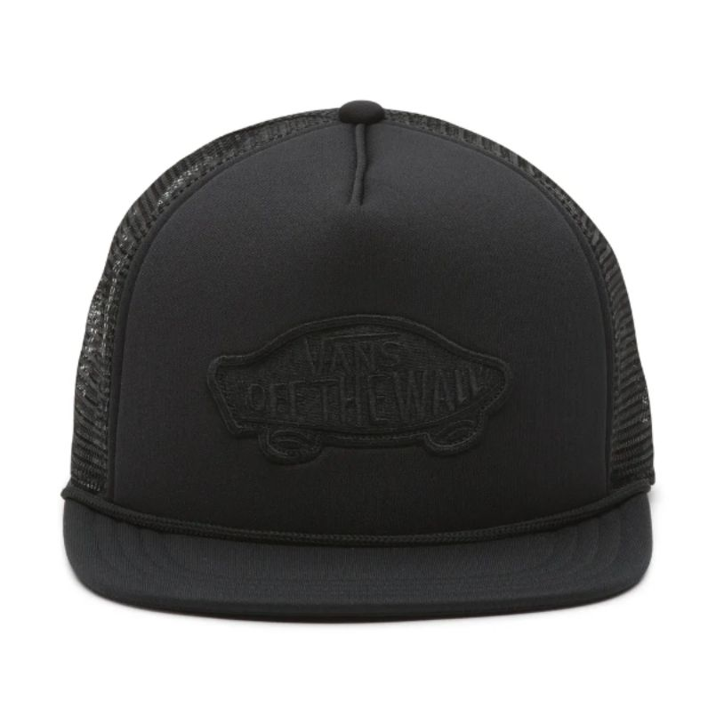 Boné Vans - MN Classic Patch Trucker Black  - No Comply Skate Shop