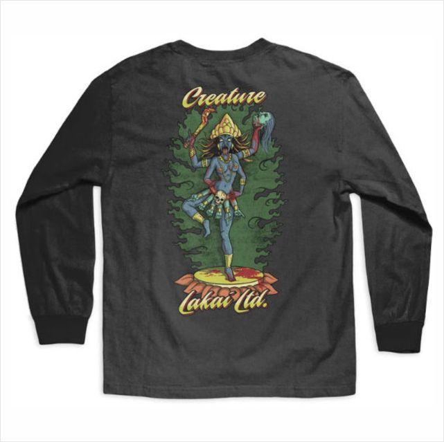 Camisa Creature X Lakai - Kali M/L Preto  - No Comply Skate Shop