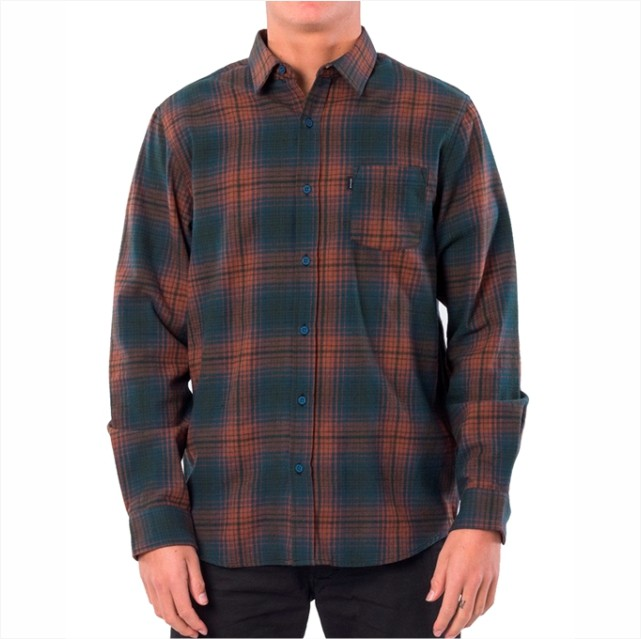 Camisa Rip Curl - Charge L/S Shirt Verde  - No Comply Skate Shop