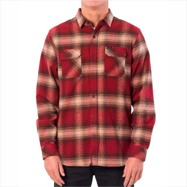 Camisa Rip Curl - Count L/S Shirt Vermelha  - No Comply Skate Shop