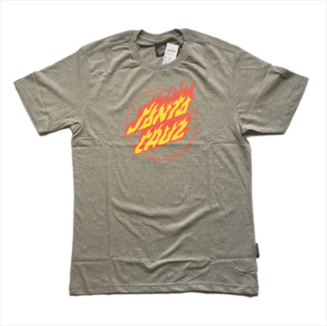 Camisa Santa Cruz - Flaming Dot Front Mescla  - No Comply Skate Shop