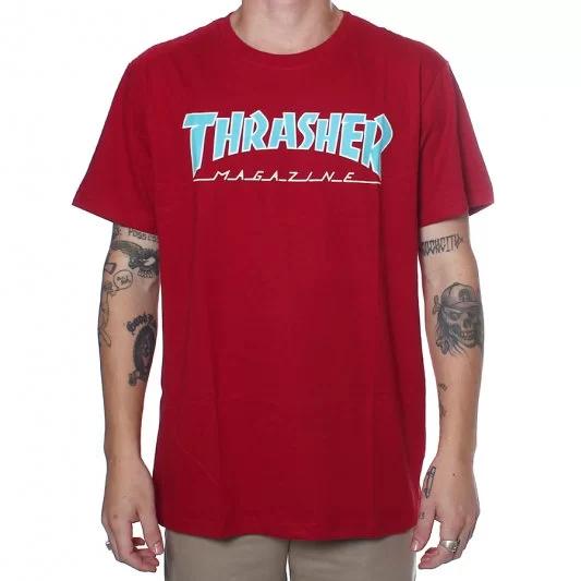 Camisa Thrasher - Outlined Vermelho  - No Comply Skate Shop