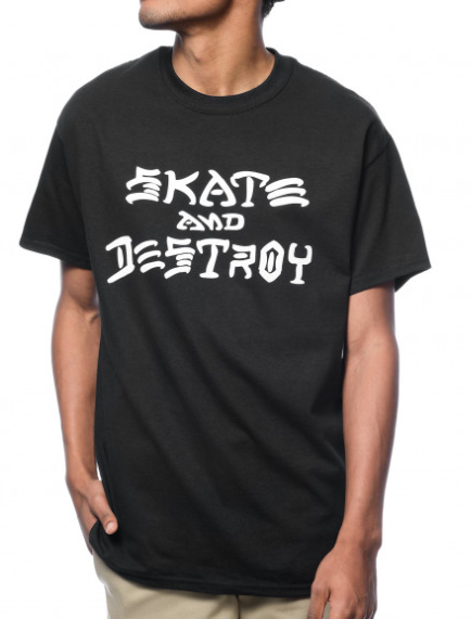 Camisa Thrasher - Skate and Destroy Preto  - No Comply Skate Shop