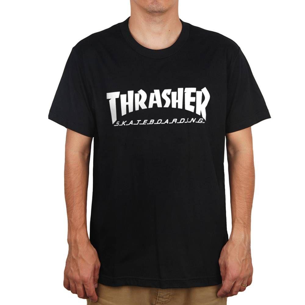 Camisa Thrasher - Skate Mag Preto  - No Comply Skate Shop