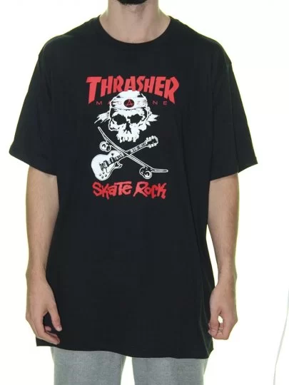 Camisa Thrasher - Skate Rock Preto  - No Comply Skate Shop