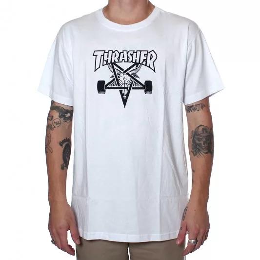 Camisa Thrasher - Skategoat Branco  - No Comply Skate Shop