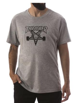 Camisa Thrasher - Skategoat Cinza Mescla  - No Comply Skate Shop