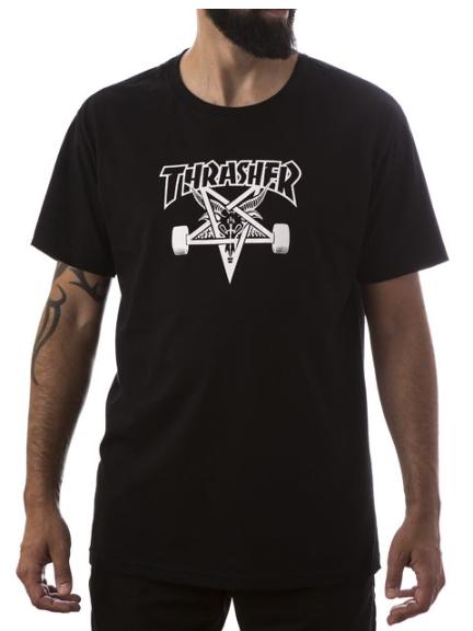 Camisa Thrasher - Skategoat Preto  - No Comply Skate Shop