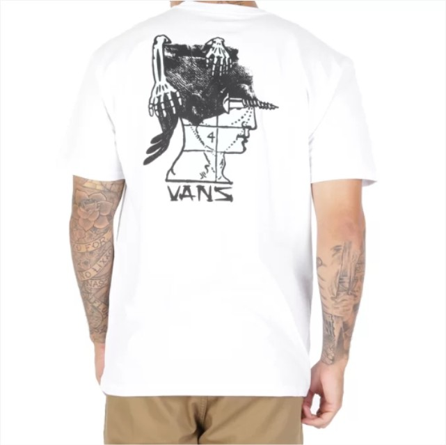 Camisa Vans - Head Pain SS White  - No Comply Skate Shop