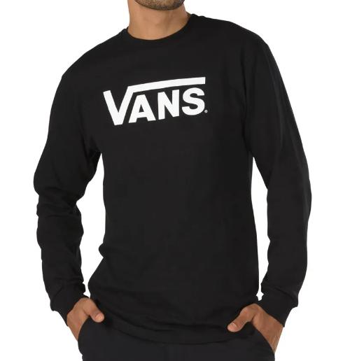 Camisa Vans - ML Vans Classic LS Black  - No Comply Skate Shop