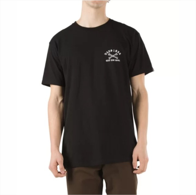 Camisa Vans - Staggered SS Black - No Comply Skate Shop