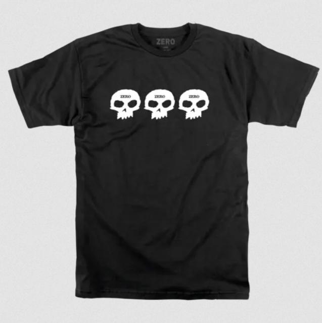 Camisa Zero - 3 Skull  - No Comply Skate Shop
