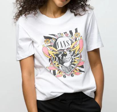 Camiseta Vans - WM Peace Kamikase White  - No Comply Skate Shop