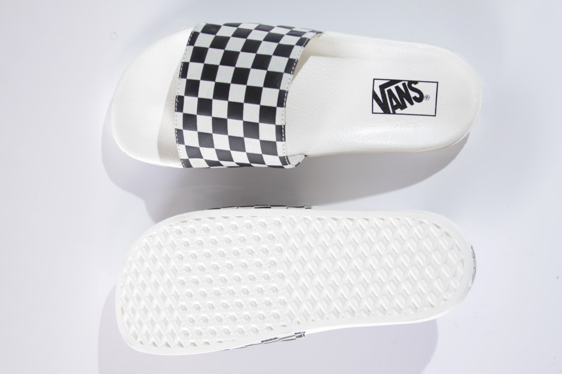 Chinelo Vans - WM Slide-ON Checkerboard White/Black  - No Comply Skate Shop