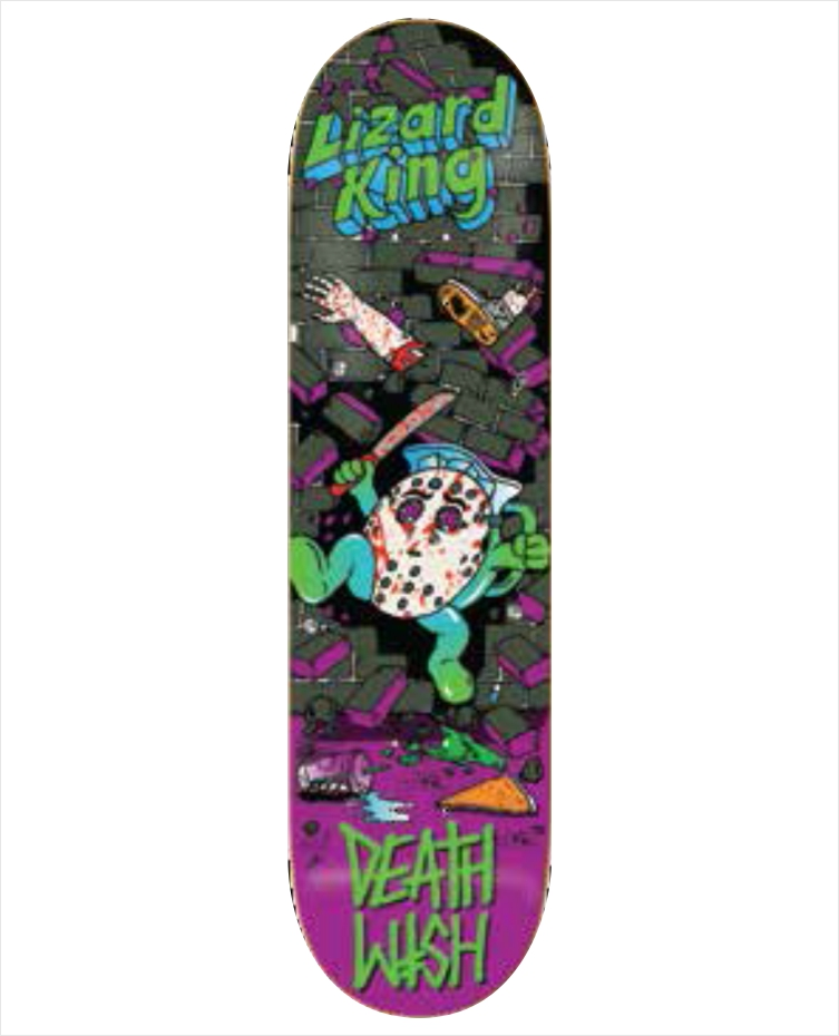 "Shape Deathwish - Lizar King Death Toons 2 7.875""  - No Comply Skate Shop"