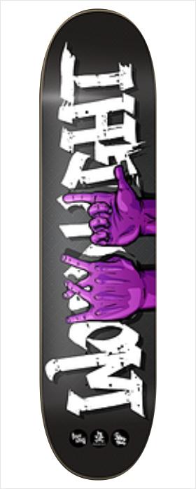 "Shape Wood Light - Fiber Glass Hand Signs 8.0""  - No Comply Skate Shop"
