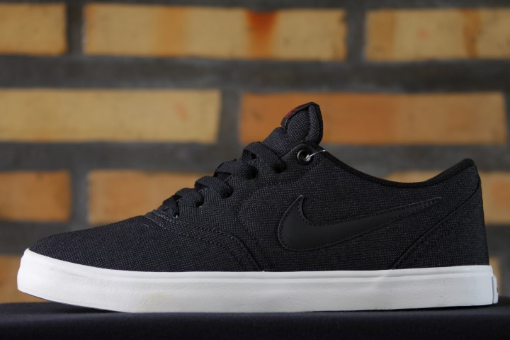 Tênis Nike SB - Check Solar Canvas Black/Black-Team Red  - No Comply Skate Shop