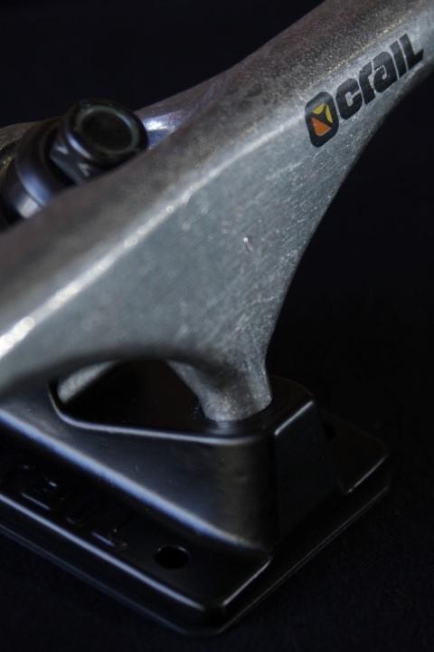 Truck Crail 136 Hi Color Logo Black/Silver  - No Comply Skate Shop