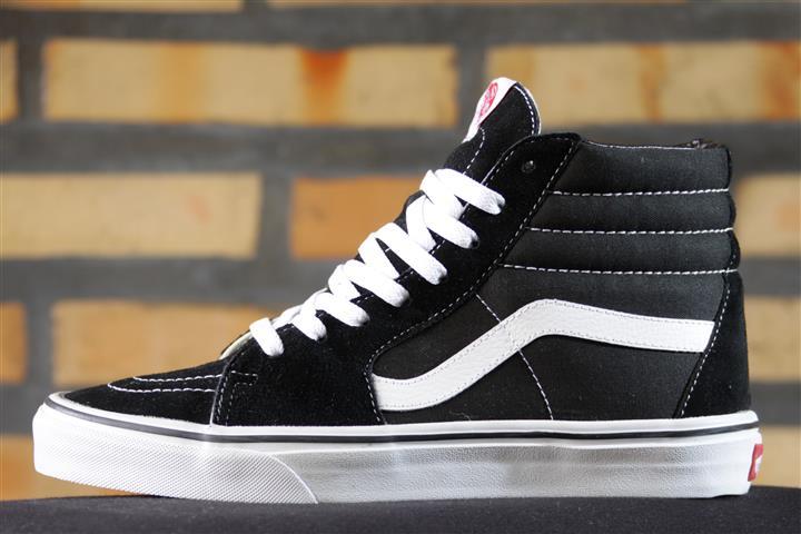 Tênis Vans - U Sk8 High Black/Black/White  - No Comply Skate Shop