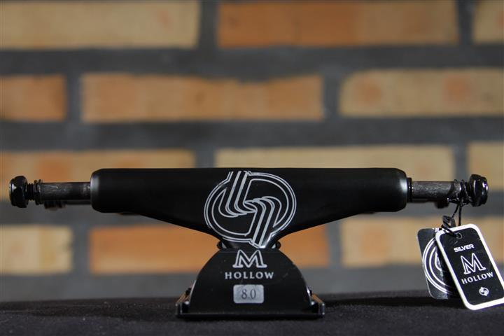 Truck Silver M-Hollow Black/Silver 8.0  - No Comply Skate Shop