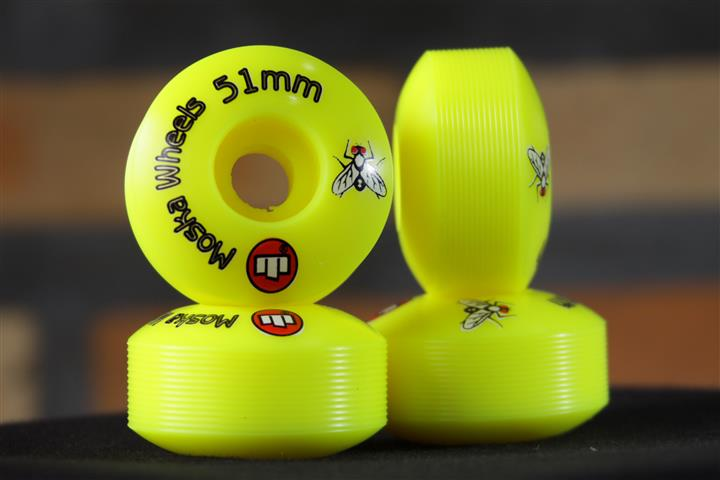 Roda Moska Yellow Rock 51mm  - No Comply Skate Shop