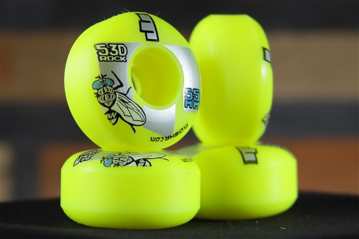Roda Moska Yellow Rock 55mm  - No Comply Skate Shop