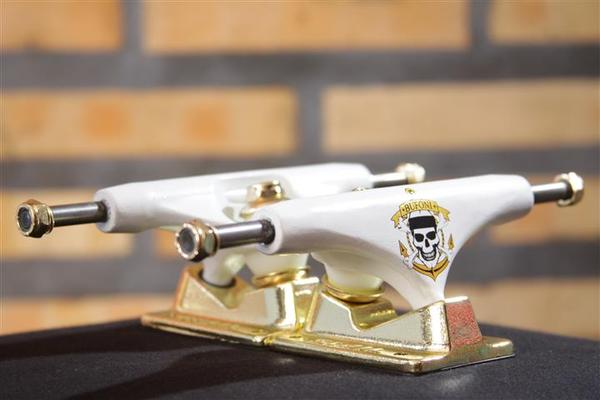 Truck Crail 133 Mid Letícia Bufoni Gold/White  - No Comply Skate Shop
