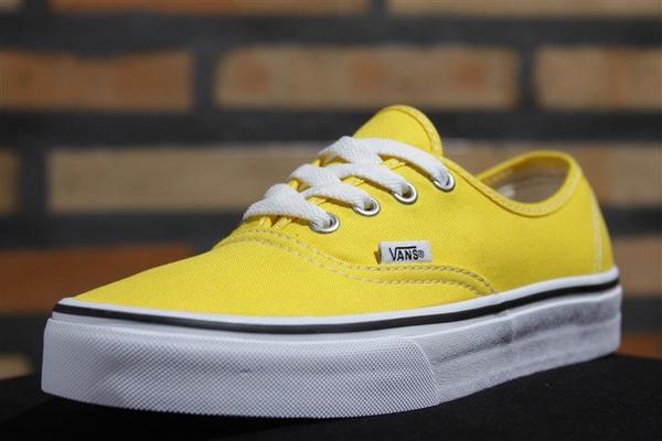 Tênis Vans - U Authentic Cyber Yellow/True White - No Comply Skate Shop