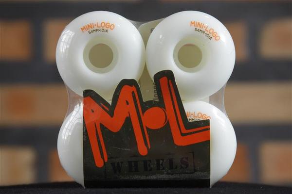 Roda Mini-Logo - C-Cut White 53mm  - No Comply Skate Shop