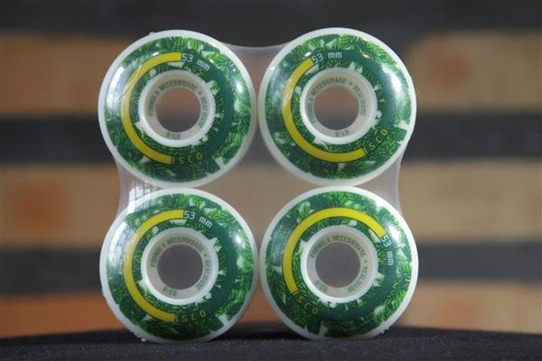 Roda Cisco - FN+R Ciscolor Series Folhas Verde 53mm  - No Comply Skate Shop