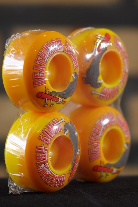 Roda Deathwish - Double Play Yellow Swirl 50mm  - No Comply Skate Shop