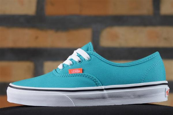 Tênis Vans - U Authentic Tile Blue/Coral (Neon) - No Comply Skate Shop