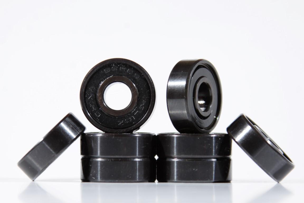 Jogo de Rolamento 608 RS Black  - No Comply Skate Shop