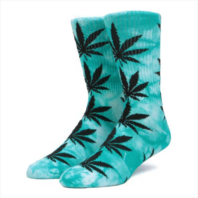 Meia HUF - Plantlife Tie Dye Green  - No Comply Skate Shop