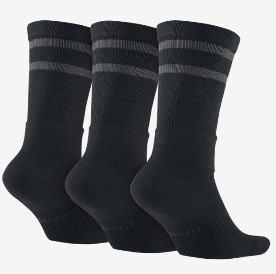 Meia Nike SB Dry Crew Socks Black/Anthracite - (Tam: 39-44)  - No Comply Skate Shop