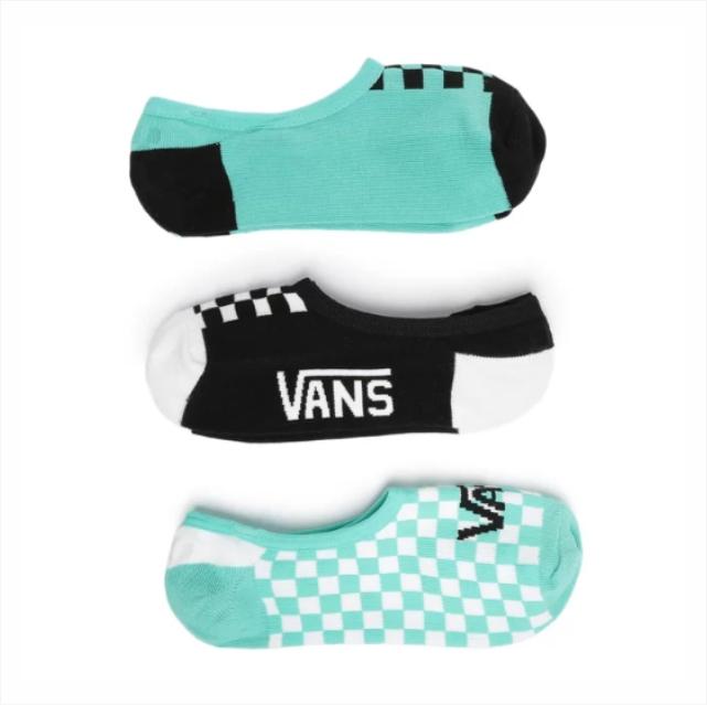 Meia Vans - Mixed Up Fun Women Canoodle Green 3PK - 36-39  - No Comply Skate Shop