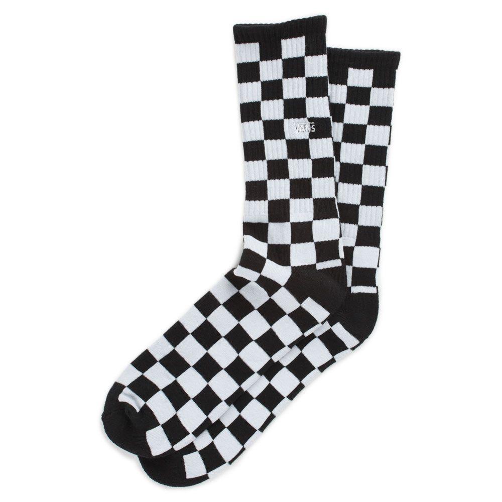 Meia Vans - MN Checkerboard Crew II Black 39-44  - No Comply Skate Shop