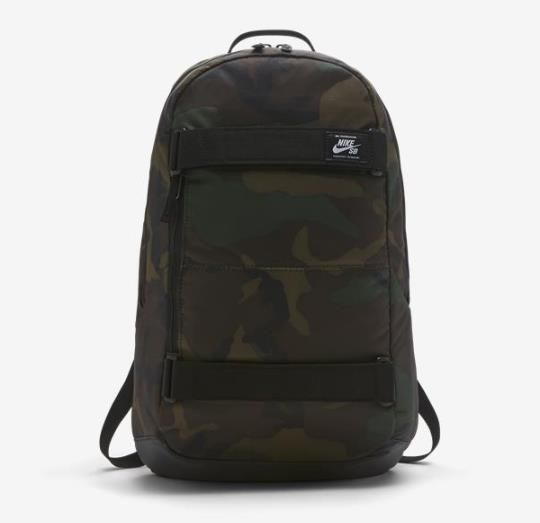 Mochila Nike SB - Courthouse Camo Graphic Iguana/Black  - No Comply Skate Shop