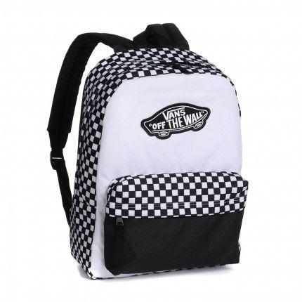 Mochila Vans - WM Realm Backpack Black-White Checkerboard  - No Comply Skate Shop