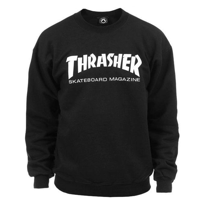 Moletom Thrasher - Careca Skate Mag Crewneck Preto  - No Comply Skate Shop