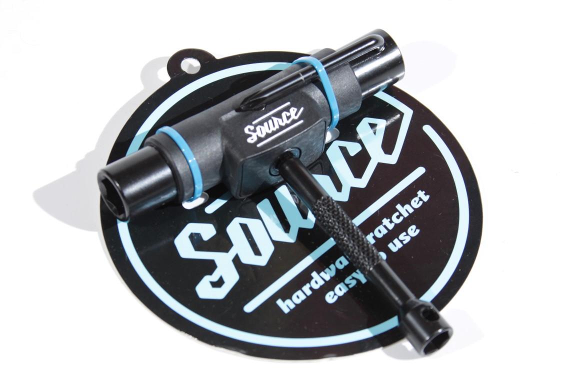Multichave para Skate Source - Catraca Preta  - No Comply Skate Shop