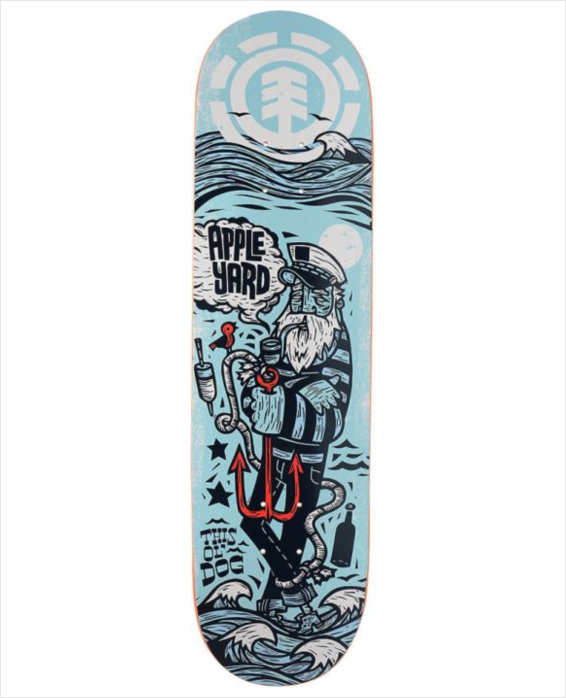 "Shape Element - Featherlight Appleyard Ol Dog 8.25""  - No Comply Skate Shop"