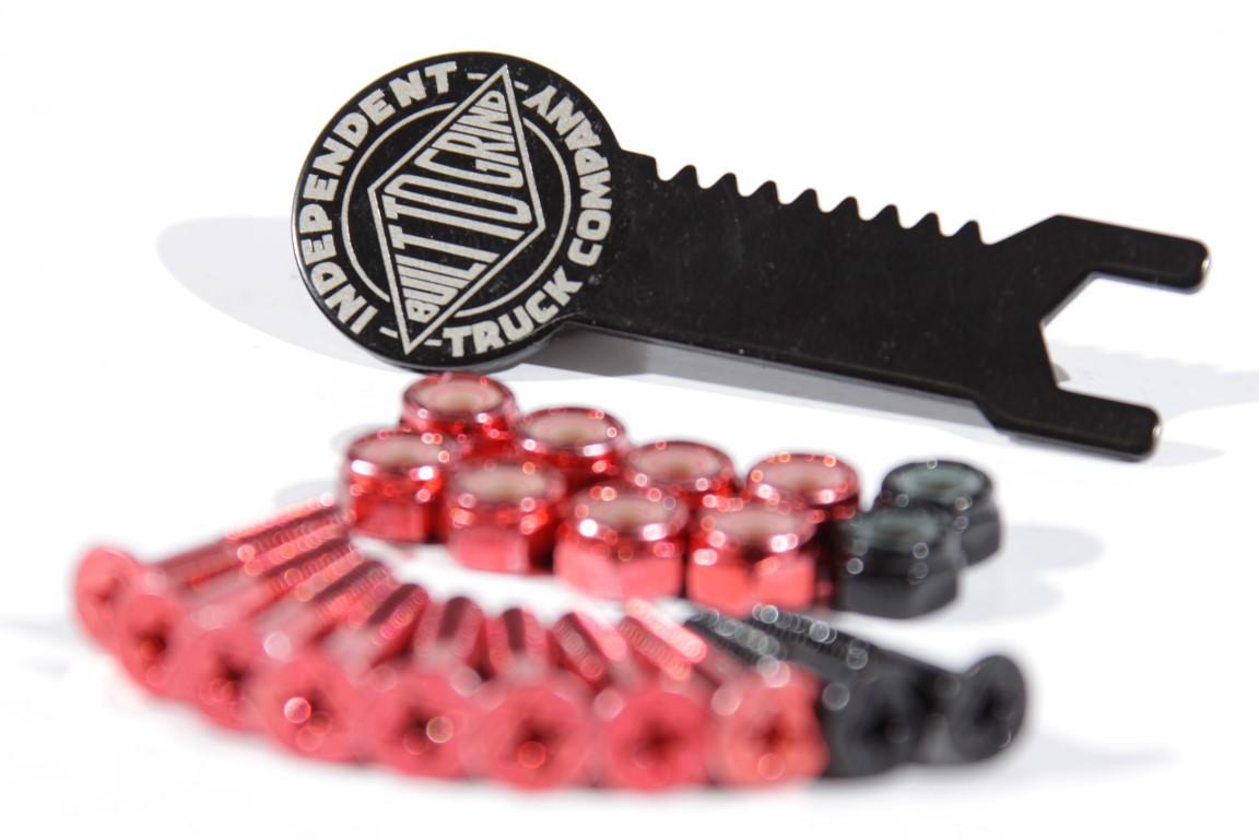 "Parafuso de Base Independent - Phillips 1"" Red/Black  - No Comply Skate Shop"