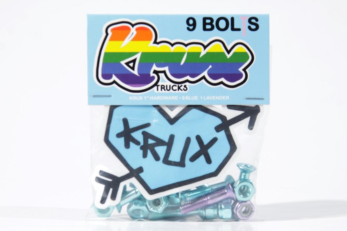 """Parafuso de Base Krux - Krome Phillips 1"""" Blue  - No Comply Skate Shop"""