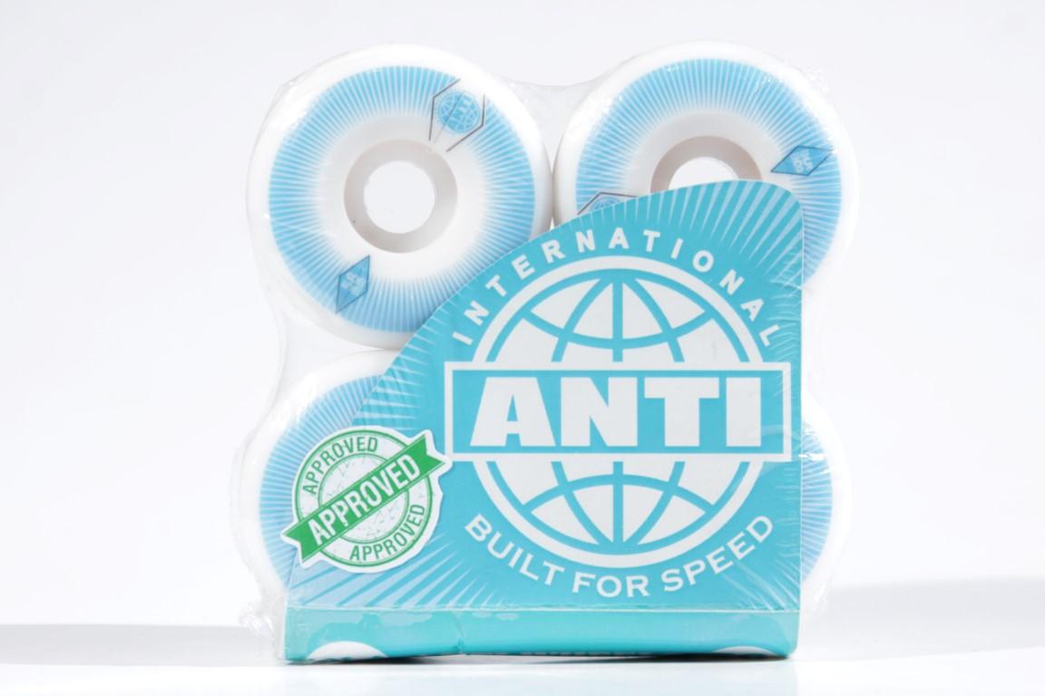 Roda Anti Action - Blue 4AT 58mm  - No Comply Skate Shop