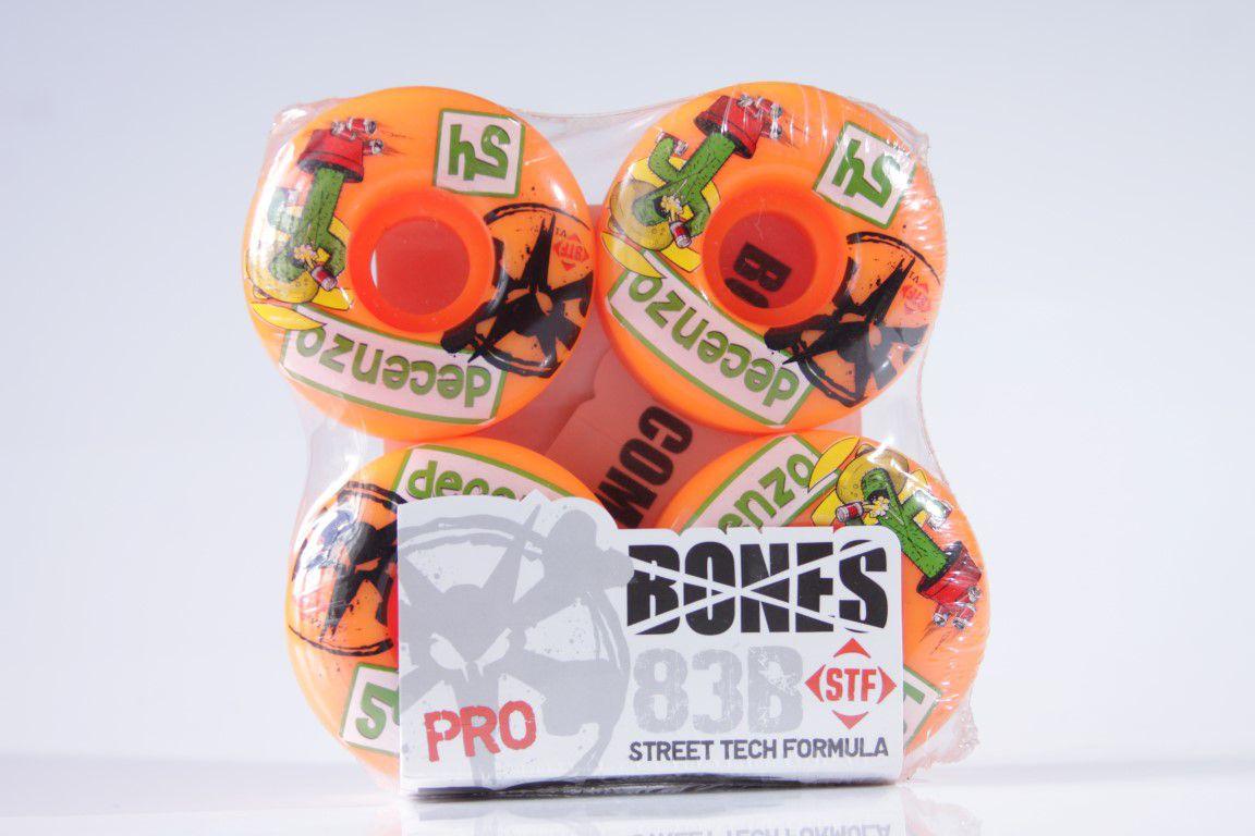 Roda Bones - STF Streettech V1 Decenzo Cactus 54mm  - No Comply Skate Shop
