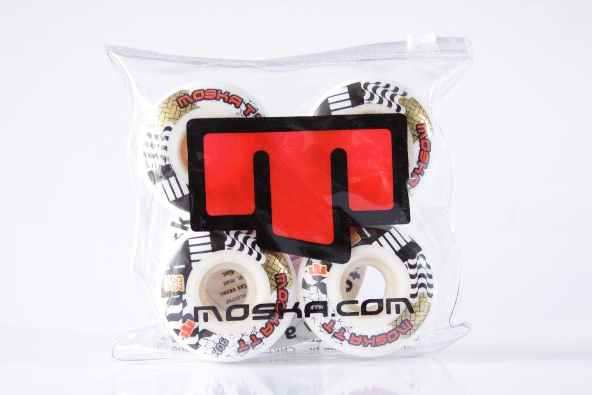 Roda Moska - Com Miolo White TT 90A 53mm  - No Comply Skate Shop
